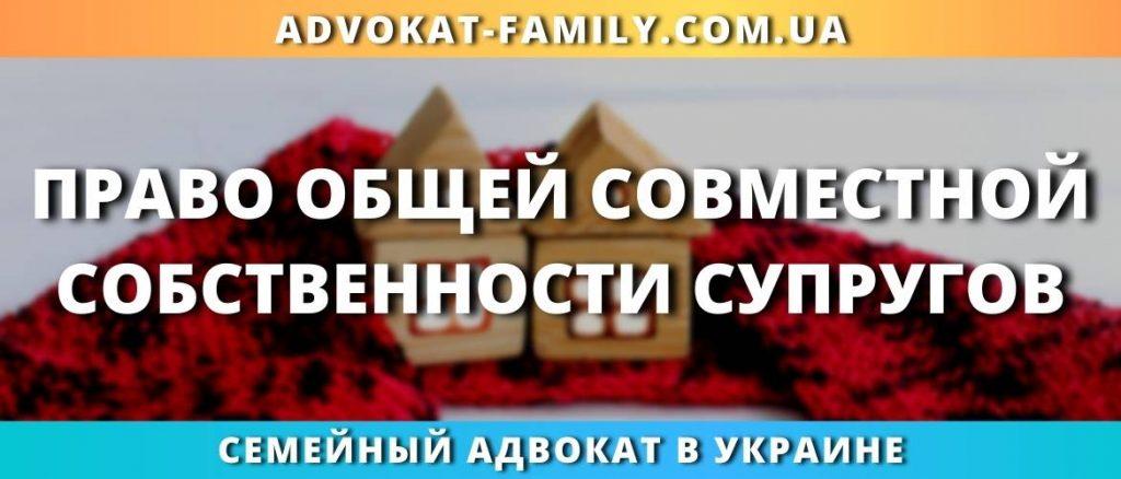 Право общей совместной собственности супругов