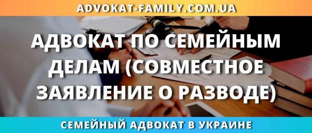Адвокат по семейным делам совместное заявление о разводе