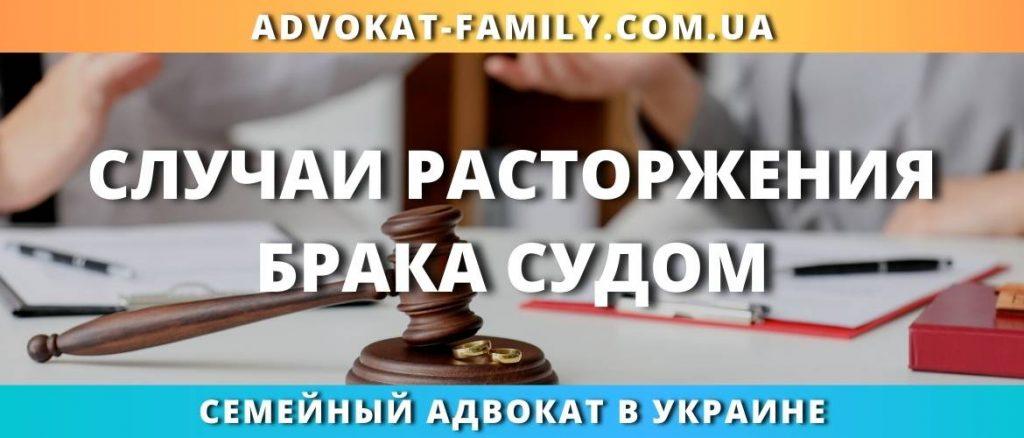 Случаи расторжения брака судом