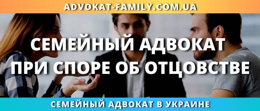 Семейный адвокат при споре об отцовстве