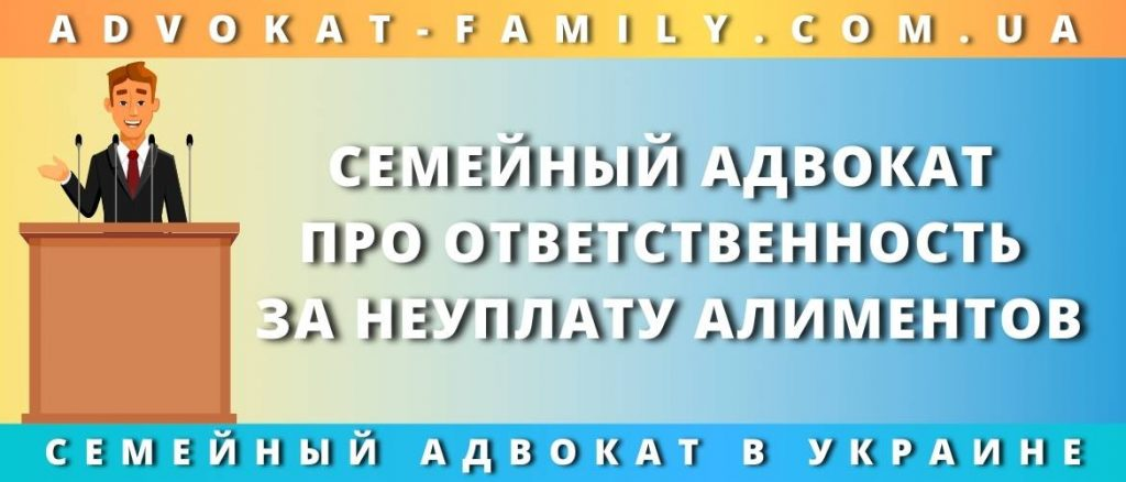 Семейный адвокат про ответственность за неуплату алиментов