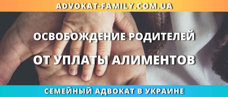 Освобождение родителей от уплаты алиментов