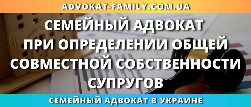 Семейный адвокат при определении общей совместной собственности супругов