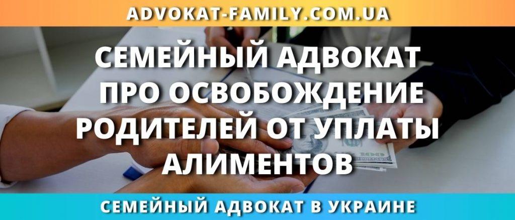 Семейный адвокат про освобождение родителей от уплаты алиментов