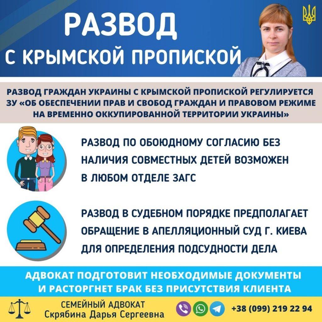 Развод с крымской пропиской