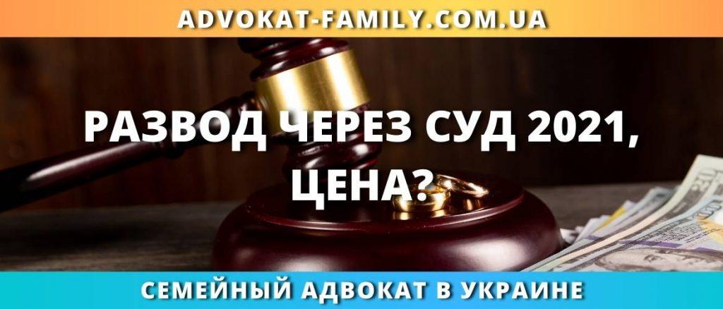 Развод через суд 2021, цена?